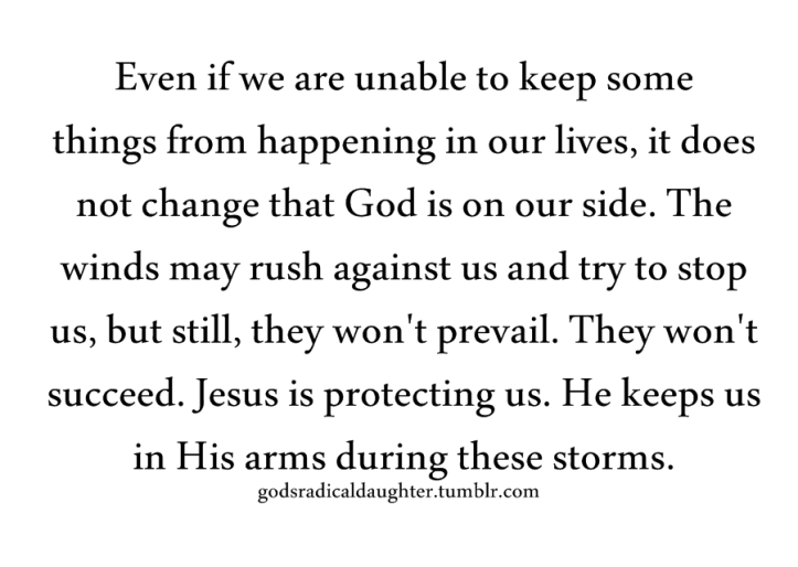 holding in the storm